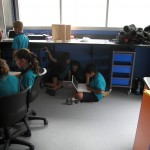 Students working in their preferred learning space