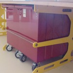 Dalmau E Bench with Sidchrome Tool Trolley locked in place using locking bar